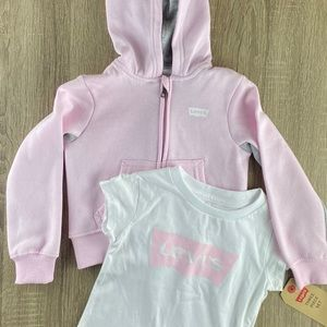 Levi's Little Girls Jacket and T-Shirt Size 2T